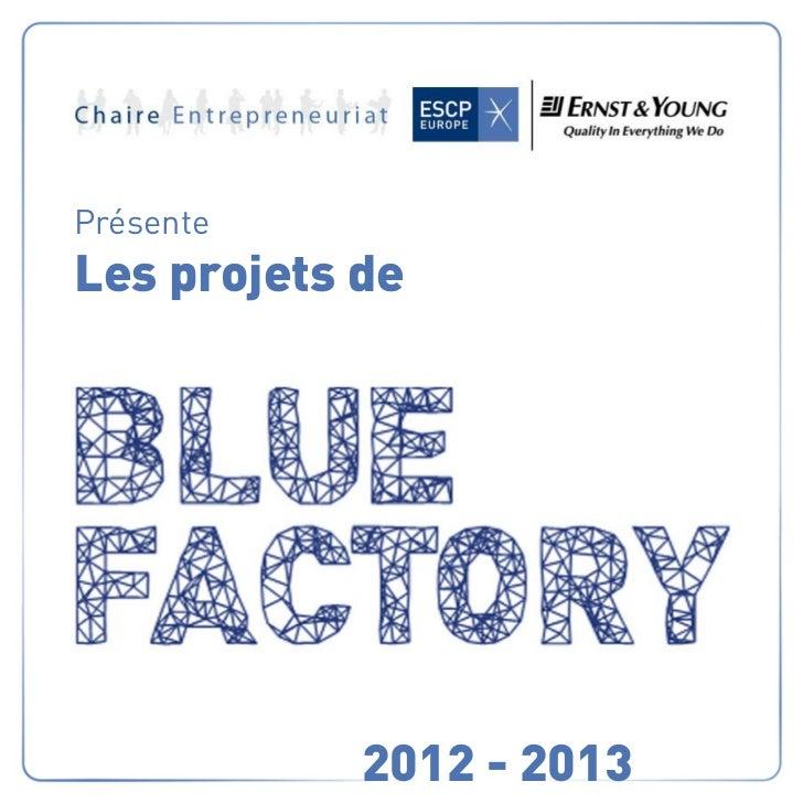 PrésenteLes projets de            2012 - 2013