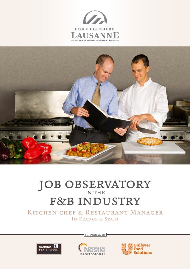 job observatory in the f&b industry  Kitchen chef & Restaurant Manager In France & Spain supported by