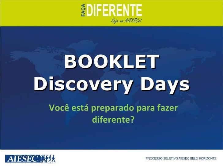 BOOKLET Discovery Days   Você está preparado para fazer diferente?