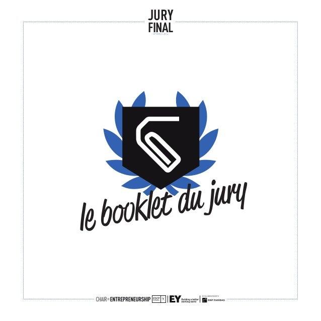 le booklet du jury JURY FINAL- OPTION E 2014 -
