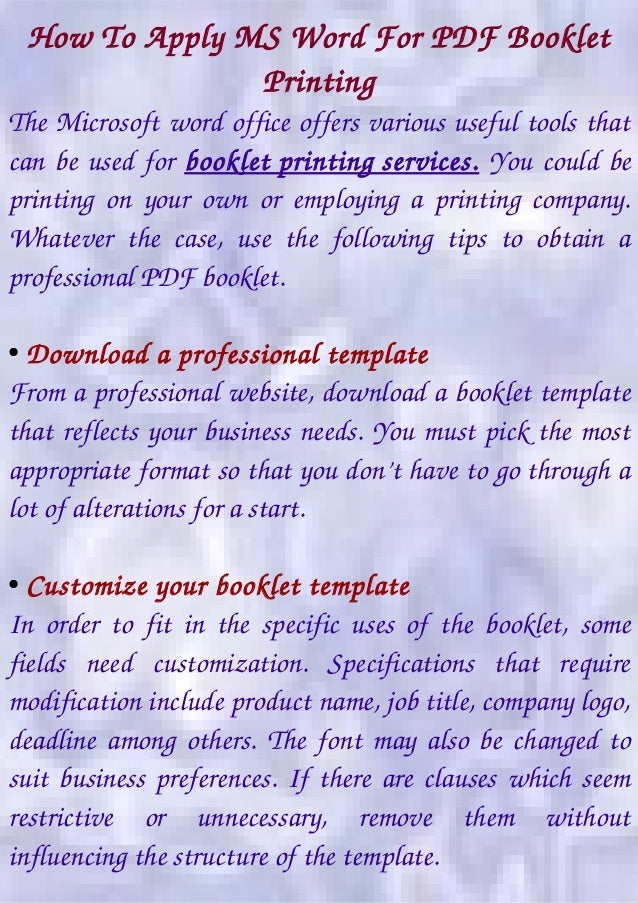 booklet printing marketing tool for business