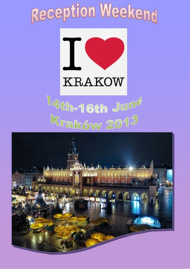 This is the weekend during which you can expe-rience an unforgettable adventure!Come to Kraków - the most amazing city in ...
