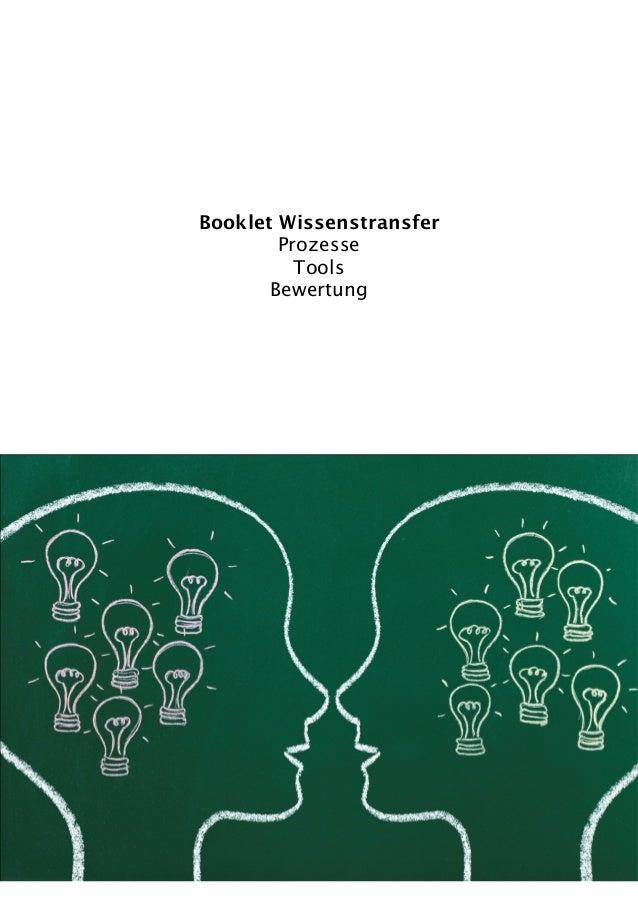 Booklet WissenstransferProzesseToolsBewertung