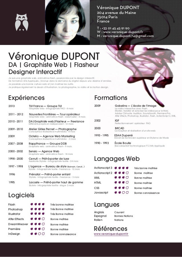 Véronique DUPONT 204 avenue du Maine 75014 Paris France T : +33 01 45 45 91 90 W : www.veronique-dupont.fr M : veronique.d...