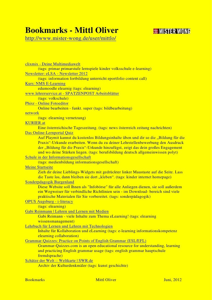 Bookmarks - Mittl Oliverhttp://www.mister-wong.de/user/mittlo/clixmix - Deine Multimediawelt        (tags: primar primarst...
