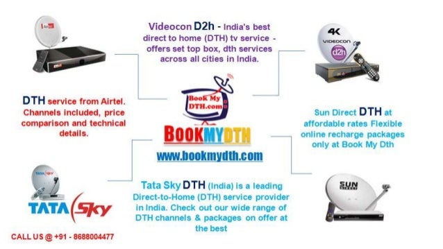 Tata Sky New Connection | Videocon D2h New Connection | BookMyDth com