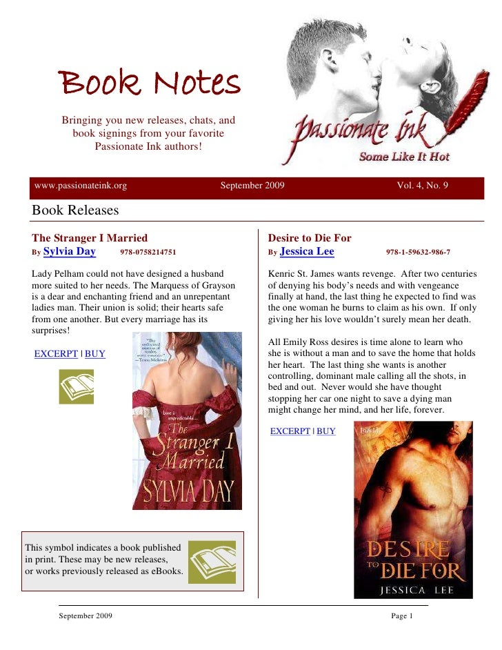 Book Notes          Bringing you new releases, chats, and            book signings from your favorite                 Pass...
