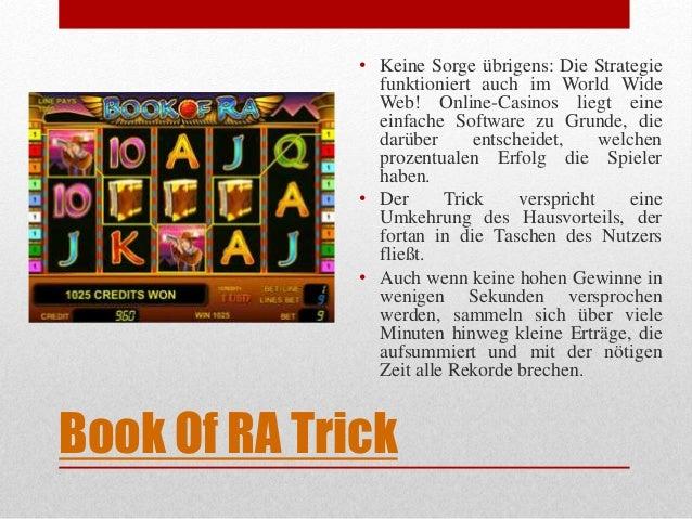 online casino book of ra trick