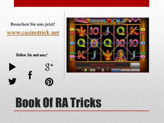 online book of ra tricks