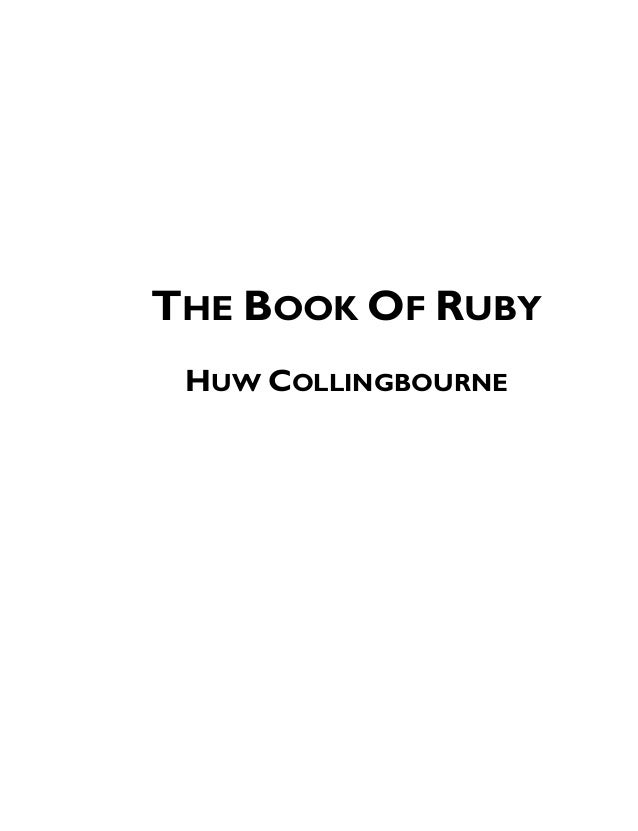 THE BOOK OF RUBY HUW COLLINGBOURNE
