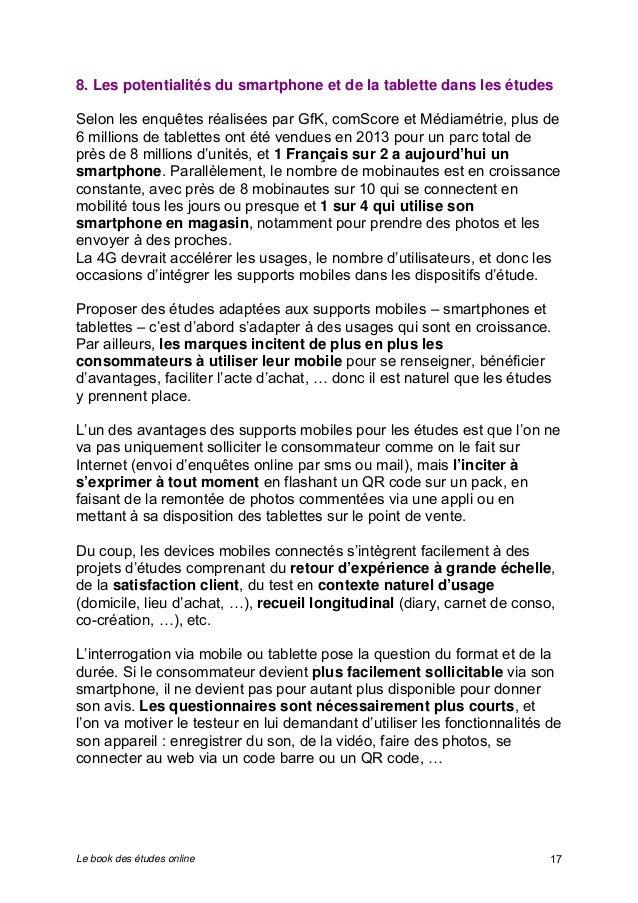 8. Les potentialités du smartphone et de la tablette dans les études  Selon les enquêtes réalisées par GfK, comScore et Mé...