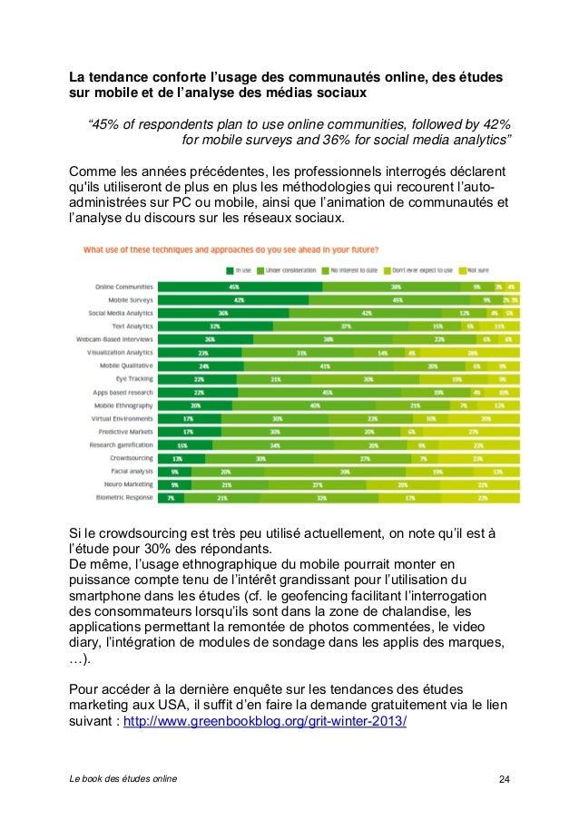 """La tendance conforte l'usage des communautés online, des études  sur mobile et de l'analyse des médias sociaux  """"45% of re..."""