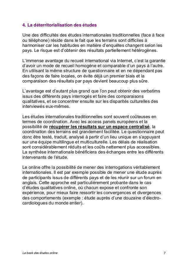 4. La déterritorialisation des études  Une des difficultés des études internationales traditionnelles (face à face  ou tél...