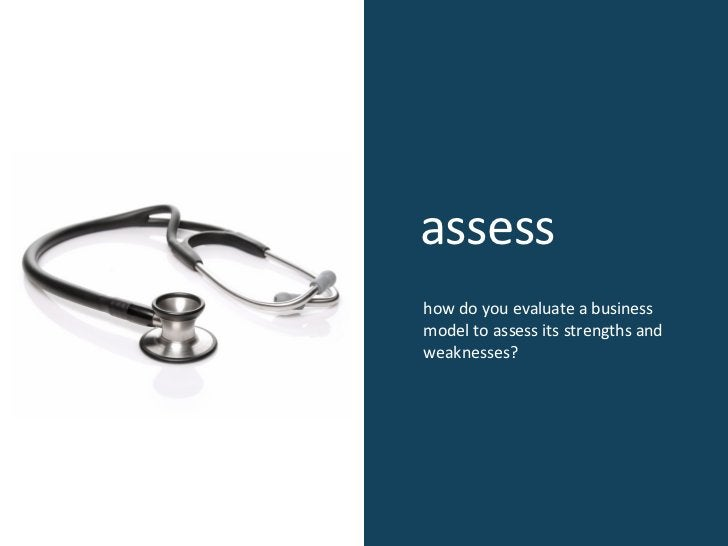 assess how do you evaluate a business model to assess its strengths and weaknesses?