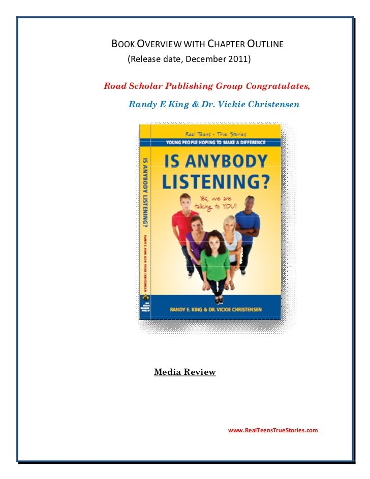 BOOK OVERVIEW WITH CHAPTER OUTLINE     (Release date, December 2011)Road Scholar Publishing Group Congratulates,     Randy...