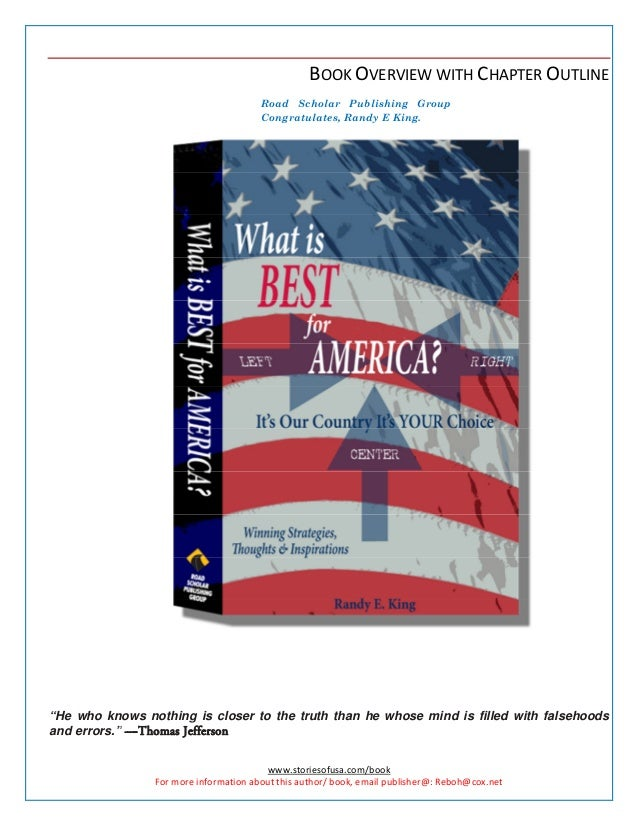 www.storiesofusa.com/book For more information about this author/ book, email publisher@: Reboh@cox.net BOOK OVERVIEW WITH...