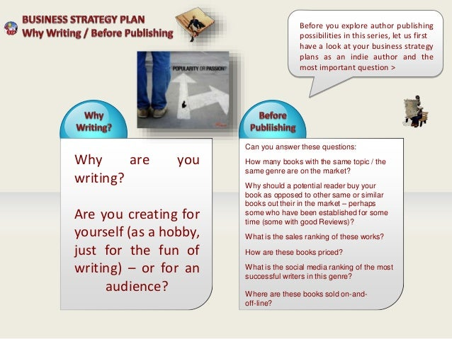 Business Strategy Plan for Indie Authors Publishers