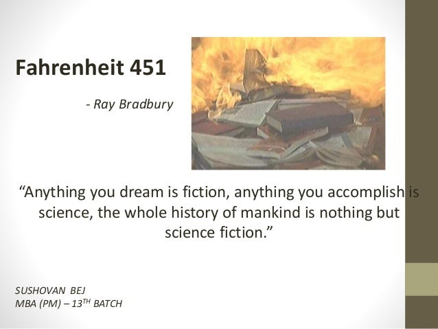 the connection between fahrenheit 451 and 'fahrenheit 451' by ray bradbury heidi hammel, a planetary astronomer with expertise in the study of neptune and uranus, is the executive vice president of the association of universities for .