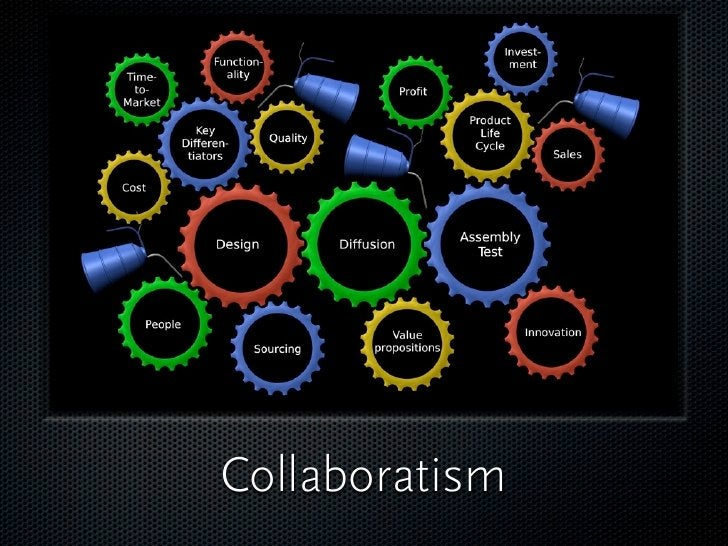 Collaboratism    Think about the whole value chain,