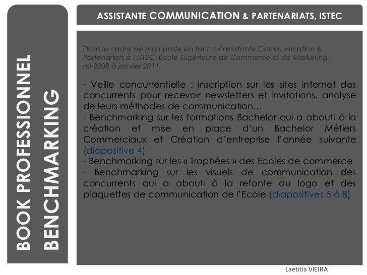 Book professionnel Laetitia VIEIRA _ assistante communication événementielle, RP & social media Slide 3