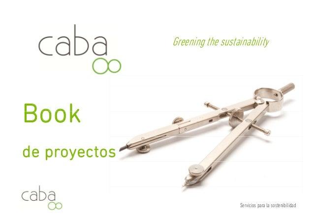 Greening the sustainability  Book  de proyectos  Servicios para la sostenibilidad