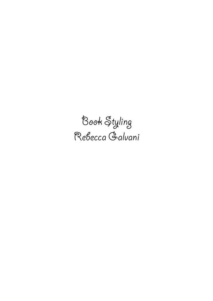 Book StylingRebecca Galvani