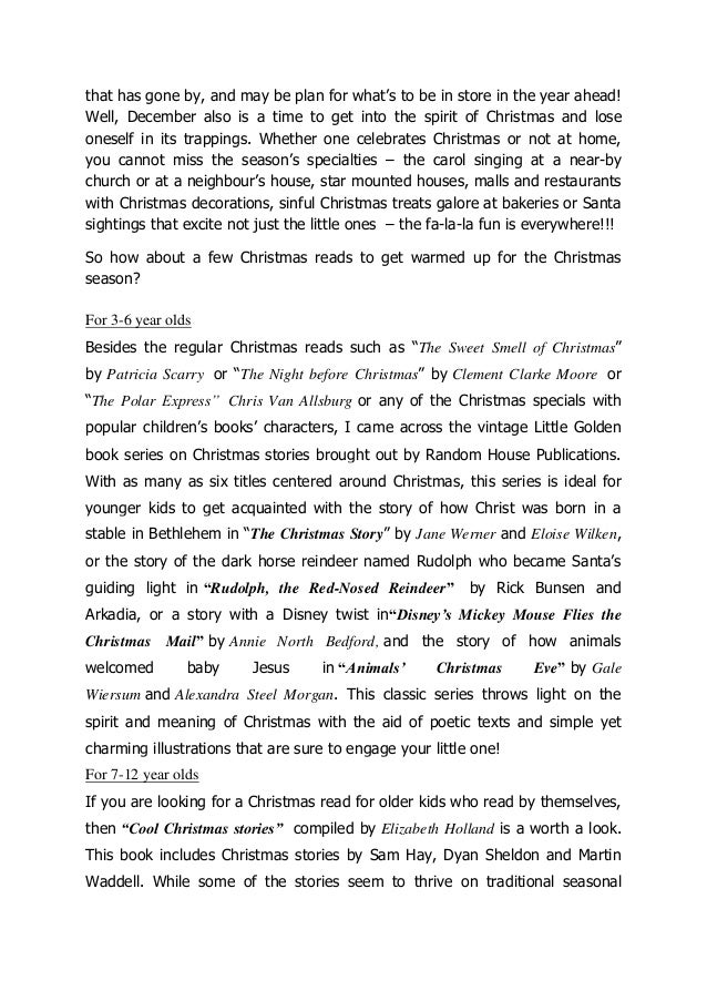 Book recommendations christmas stories for your children