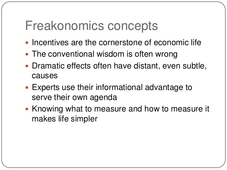 Freakonomics chapter 1 thesis