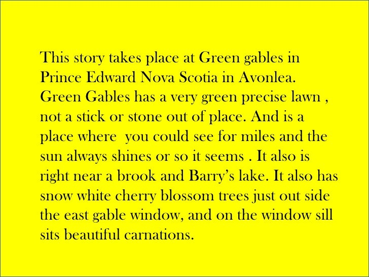 Anne of green gables book summary