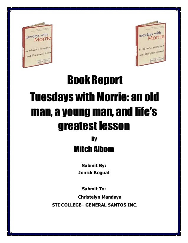 Book Report Tuesday With Morrie