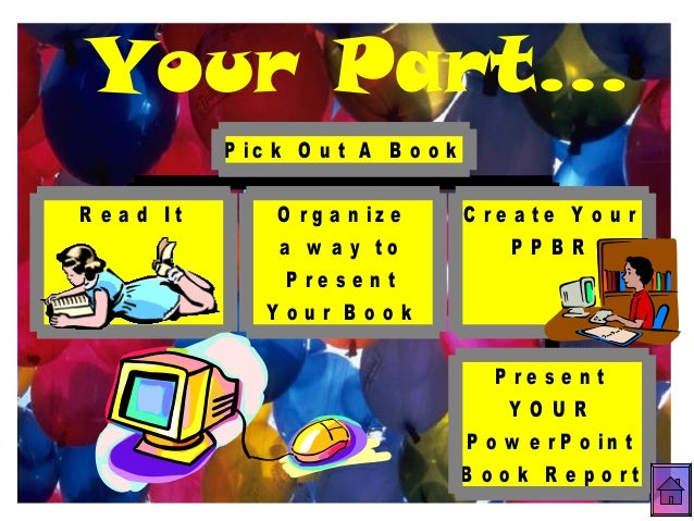 How To Make A Book Cover Using Powerpoint : Book report powerpoint