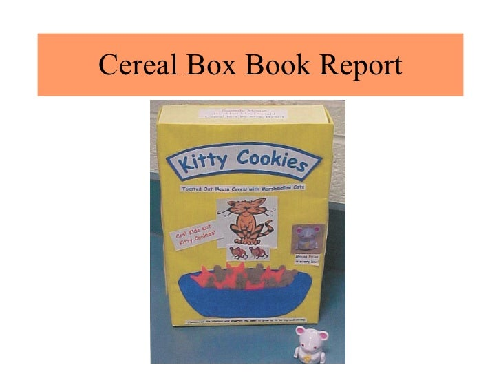 Book Report Projects – Sample Cereal Box Book Report Template