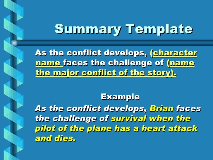 Book report summary – Book Report Summary Template