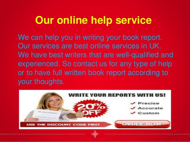 Service that write book report for you