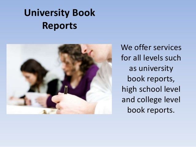writing a college book report