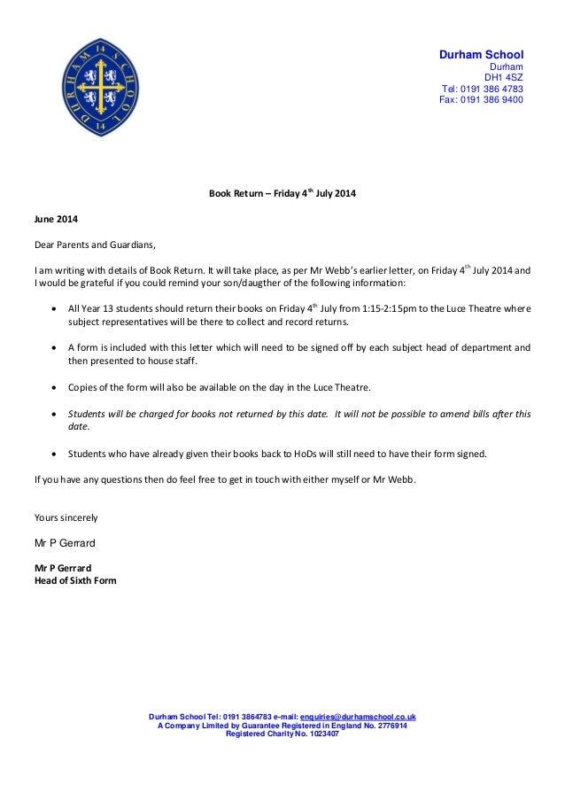 goods return letter format