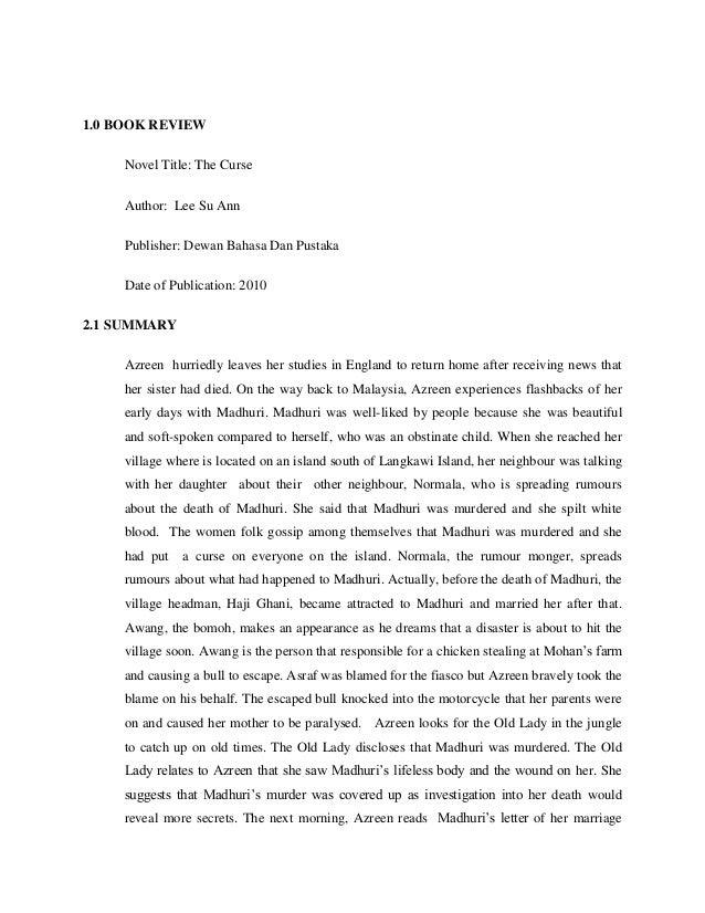book report title