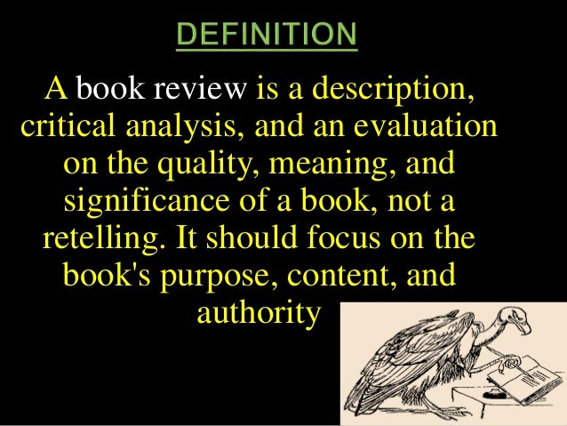 book review definition