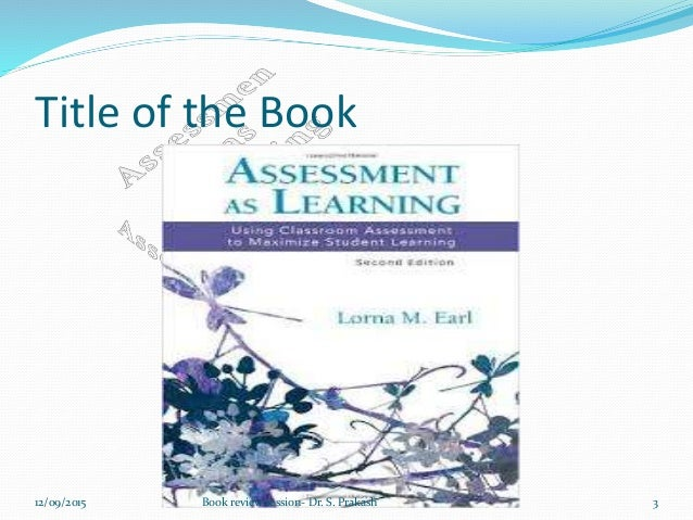 Assessment as Learning - Book review Slide 3
