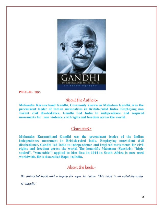 My Experiments With Truth Hindi Pdf