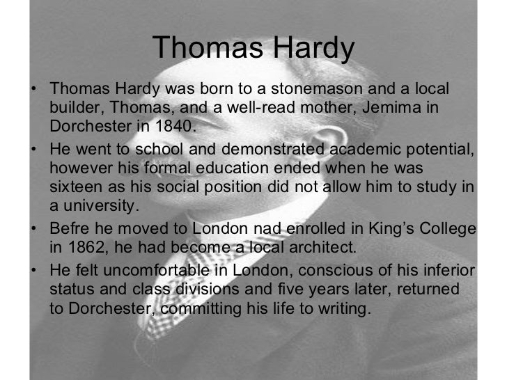 literary analysis of the poem the darkling thrush by thomas hardy This ambivalence is partly what helps to make 'the darkling thrush' not only a great thomas hardy poem to read, but also a great piece of poetry to analyse unlike the thrush's carolings, hardy's poem does not sound an unconditionally positive note.