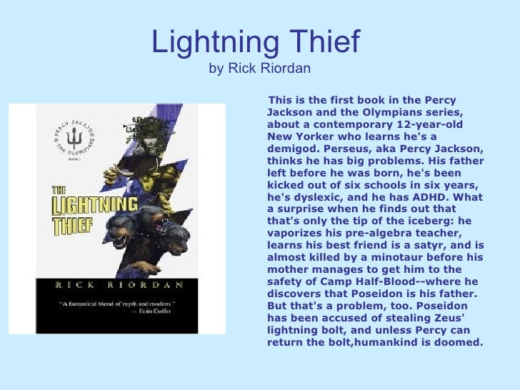 Book report on the lightning thief