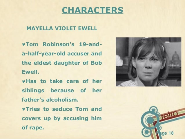 an analysis of the character of mayella in the novel to kill a mockingbird Summary and analysis of trial scene in to kill a posted by kj thebookgirl in to kill a mockingbird his general character – mayella had bribed her.