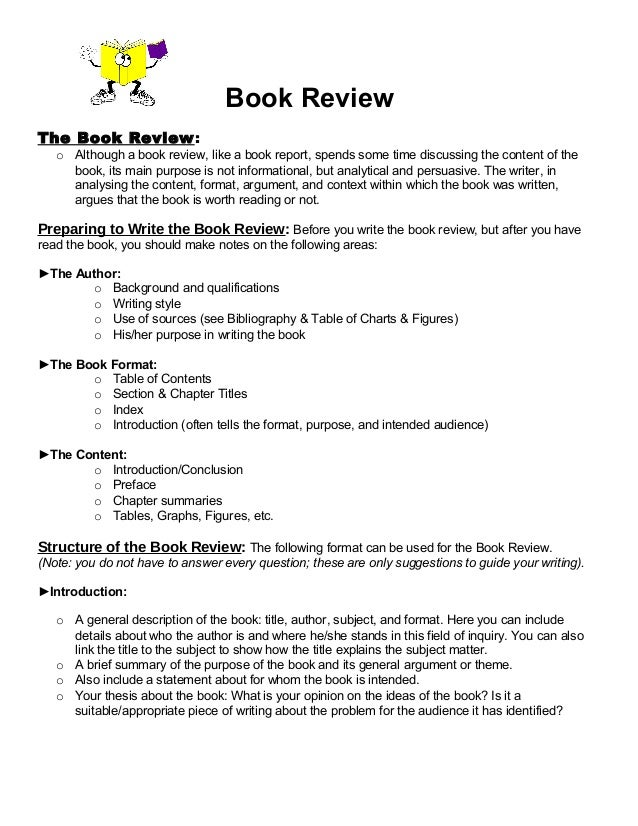 Book review format 1 – Sample Book Summary Template