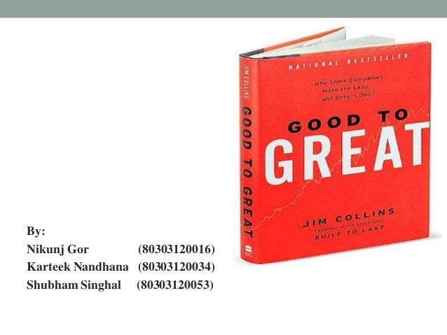 review good to great Our programs at good to great tennis academy are programs for you who would like to invest 100% in your tennis they are guided and.