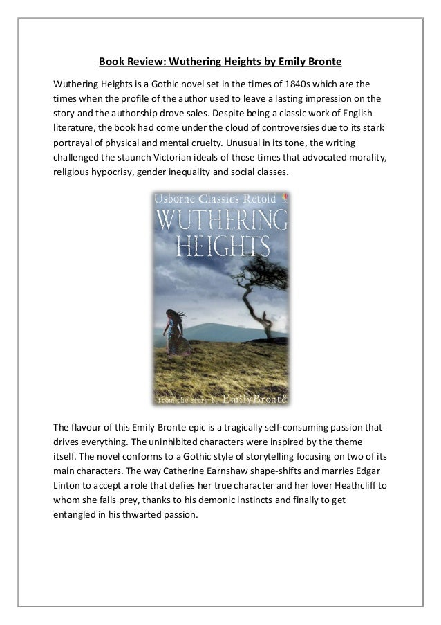 an analysis of fiction elements in wuthering heights by emily bronte Wuthering heights and the influence of literary value gothic elements in wuthering heights: emily bronte's writing combined elements of both realist and gothic genres as well as this, the conflict between gothic and.