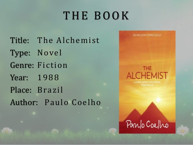 book review on alchemist