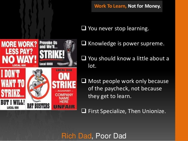 rich dad poor dad book review Book review: rich dad poor dad whatever your thoughts are on  amassing more money than you know what to do with, i think most of us can  agree on.