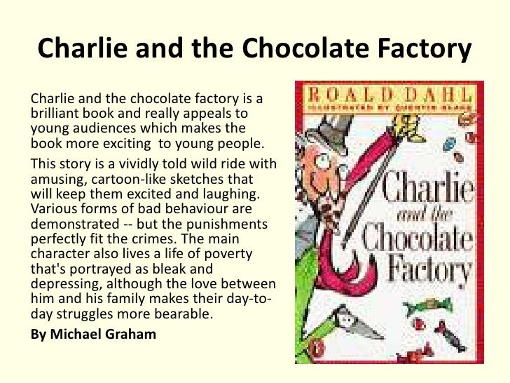 book reviews y to  charlie and the chocolate factorycharlie and the chocolate factory