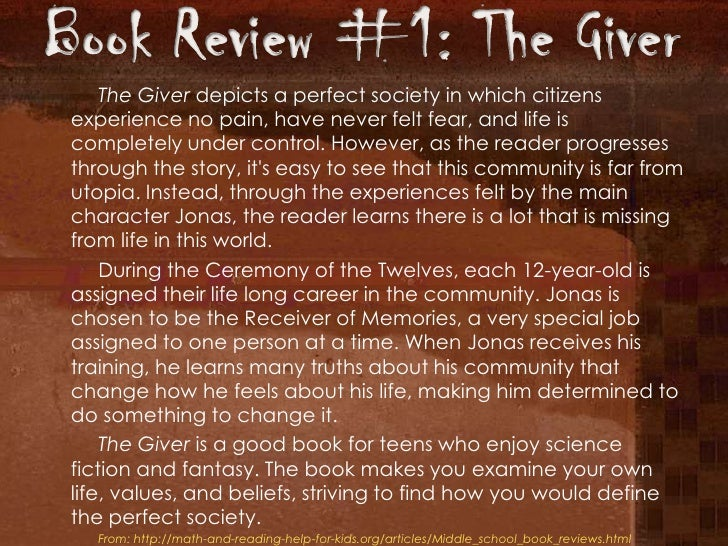 Book report the giver